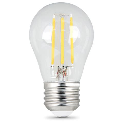 Led Clear Light Bulbs Feit Electric 60w Equivalent Soft White A15 Dimmable Clear Filament Led Medium Base Light Bulb