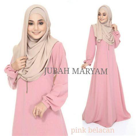 Baju Raya Warna Pink Belacan jubah maryam mesra penyusuan saeeda collections