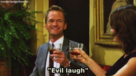 Meme Evil Laugh - how i met your mother evil laugh gif find share on giphy