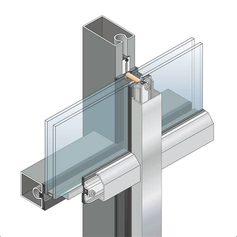 steel curtain wall frames technical protection