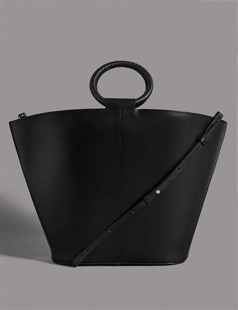 Autograph Leather Frame Bag From Marks Spencer by Leather Handle Tote Bag Endource