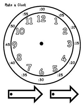 printable clock arms learning to tell time hands on 1 md 3 pinterest
