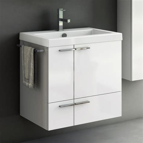 23 Inch Vanity Cabinet With Fitted Sink   Contemporary