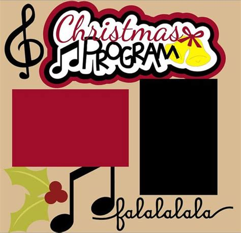layout for christmas program program scrapbook pages scrapbook and layout on pinterest
