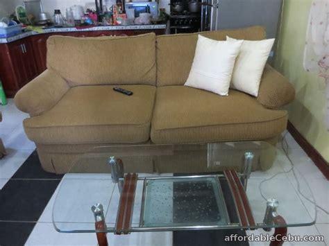 corduroy sofa set  center  corner table  sale cebu city cebu philippines
