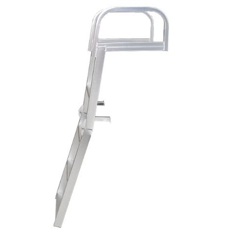 aluminum boat handles custom aluminum pontoon boat 4 step fold down ladder w