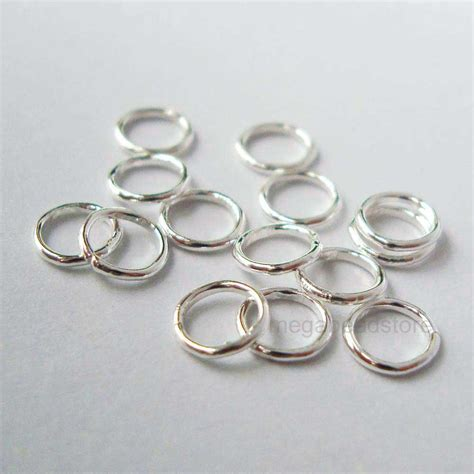 5mm sterling silver jump rings closed soldered 22