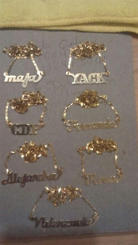 cadenas con nombre chapa de oro nombres en chapa de oro 14 k 155 00 en mercado libre