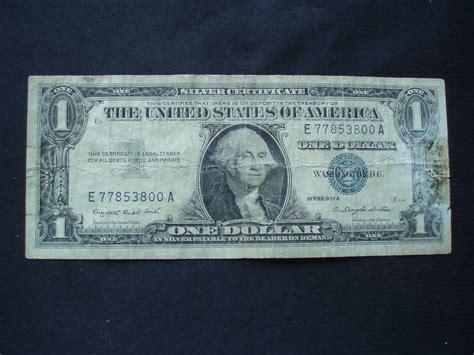 1957 Silver Certificate No Letter 2 1957 A 1 Dollar Silver Certificate Ebay