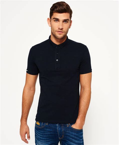 Tshirt Kaos Superdry lyst superdry city polo shirt in blue for