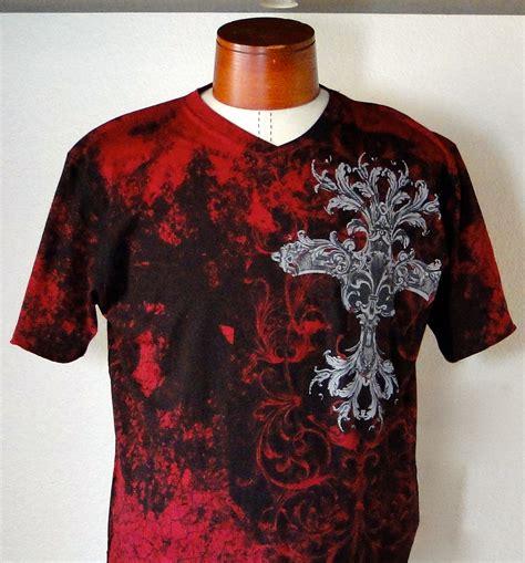 Adjy 05 Hello Boy Shirt Grey Set s maroon gray retro splattered cross applique shirt retrofit skull pirate clothing