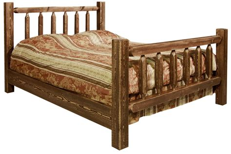twin log bed homestead twin log bed stained lacquered