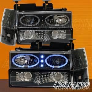 95 97 chevy silverado black halo projector led headlights