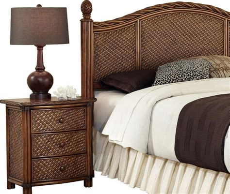 transitional bedroom furniture marco island queen full headboard and night stand