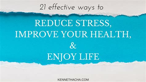the healthy writer reduce your improve your health and build a writing career for the term books 21 effective ways to reduce stress improve your health
