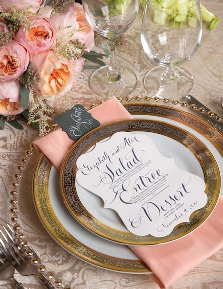 Pink And Gold Table Setting by Pink And Gold Wedding Table Settings