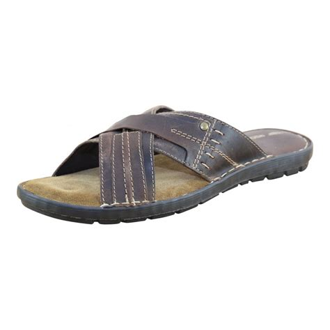 mens leather summer sandals mens leather brown flip flops mules slip on summer sandals s footwear from