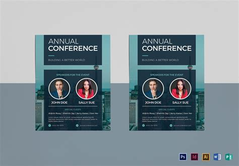 Annual Conference Flyer Design Template In Psd Word Publisher Illustrator Indesign Conference Flyer Template