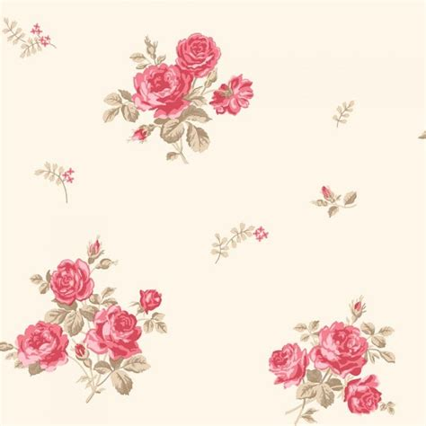 coloroll pippa floral wallpaper caramel beige red m0727