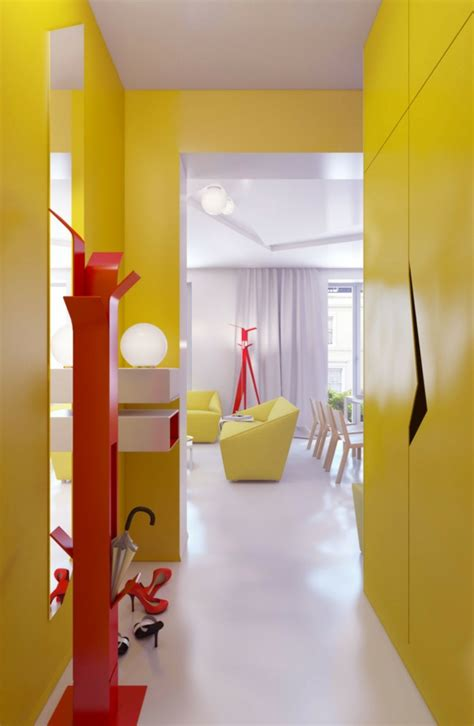 flur tapeten beispiele farbgestaltung flur ratschl 228 ge und beispiele in gelb
