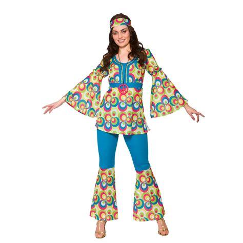 womens hippie hippy fancy dress costume 60s 70s