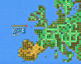 Mapa de europa a lo super mario bros 3 pixfans