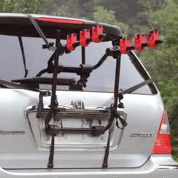 3 bicycle bike car cycle carrier rack hatchback rear mount