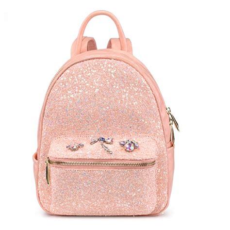 Fashion Bag Motif Salur Pink Korean Style Di Lengkapi Dompet Kecil K 2016 new mini design fashion made pink backpacks sequins insect diamonds bag