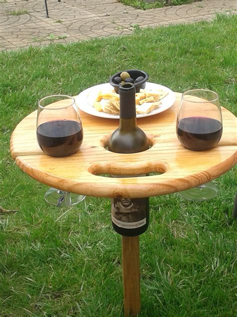 outdoor furniture portable wine table by enjoyinglifeourway