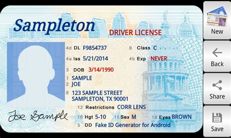 novelty id template temporary drivers license quotes