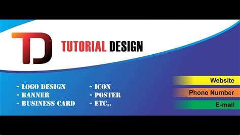 design banner simple simple banner design with corel draw youtube
