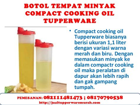 Botol Air Tupperware 1 Liter botol tempat minyak tupperware compact cooking