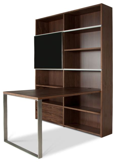Desk Shelf Unit by Maine Iv Shelving Unit W Desk Modern Desks And