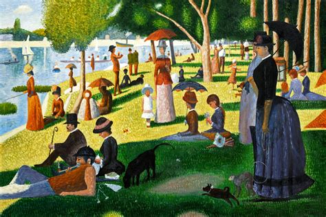 Kitchen Island Red by Seurat Sunday Afternoon On The Island Of La Grande Jatte