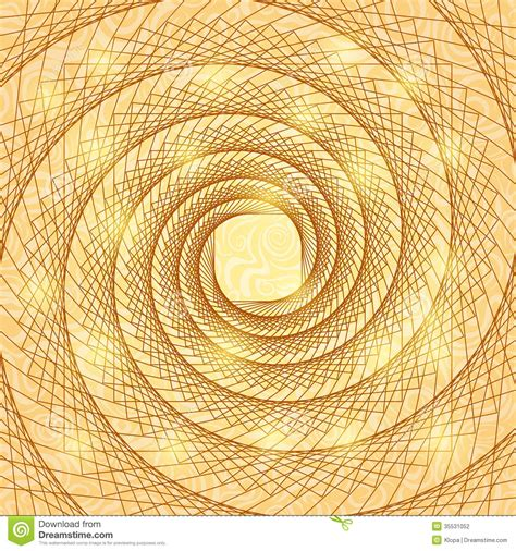 how to use spiral doodle shiny gold abstract spiral doodle card stock vector