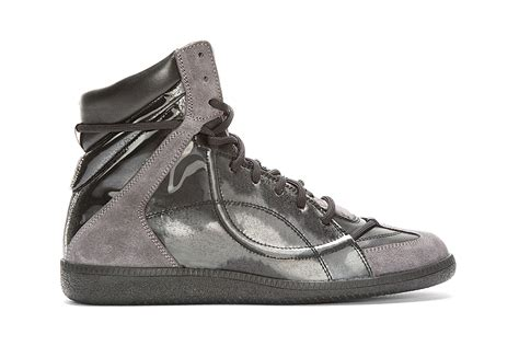 maison martin margiela sneakers maison martin margiela black reflective high top sneakers