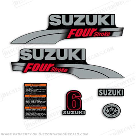 Suzuki Df6 Price Suzuki 6hp Df6 Decal Kit 2003 2009