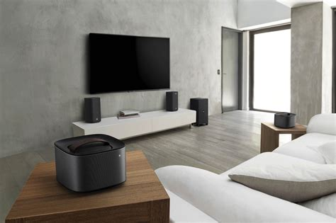 living room surround sound philips living room audio gear includes detachable speakers