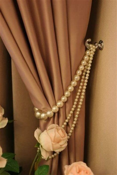 pearl curtain tie backs pearl curtain holder love for the home pinterest