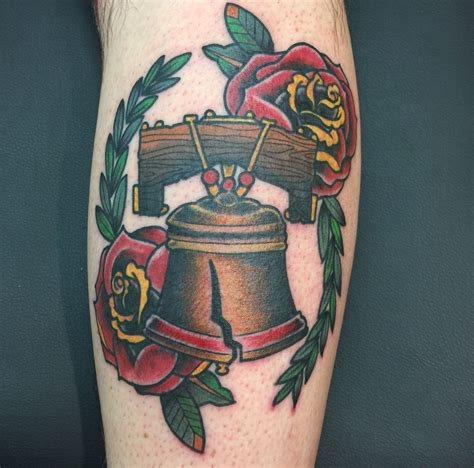 libertyville tattoo liberty bell traditional yours truly liberty