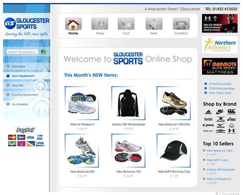 layout web online shop web shop design gloucester gloucester sports online