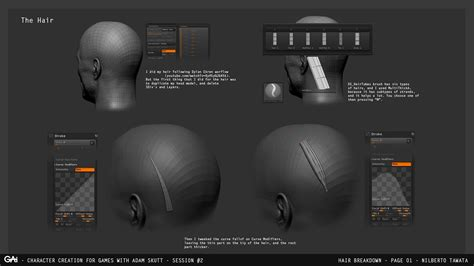 zbrush tutorial hair zbrush tutorial sculpting beard and hair by nilberto