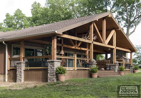 Gable Roof House Plans by Covered Deck And Patio Pictures Built By All Weather Decks