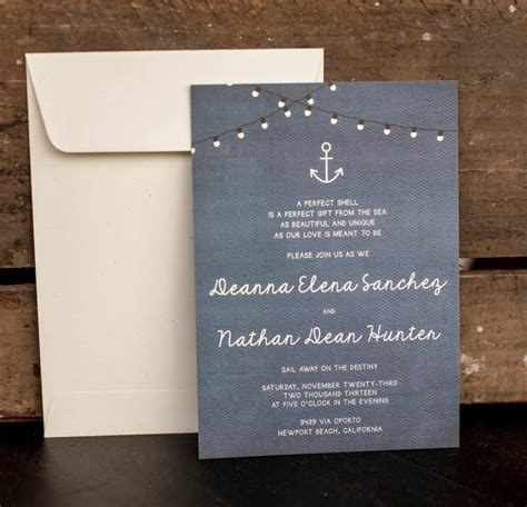 wedding invitations nautical wedding invitation rustic wedding invitation nautical