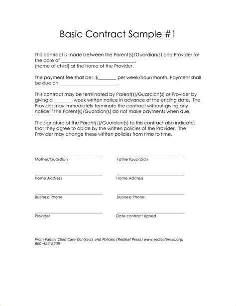 Simple Letter Of Agreement Exles 4 Simple Contract Templatereport Template Document Report Template