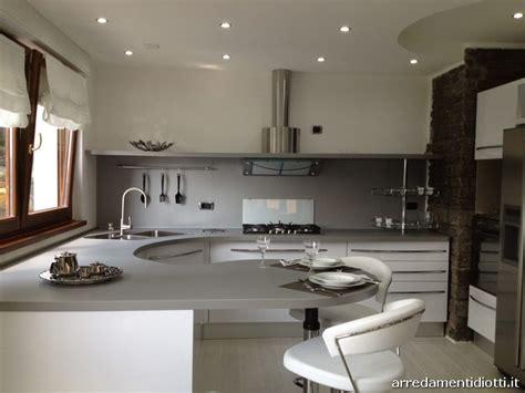 cucina bianca lucida  top curvo skyline diotti af