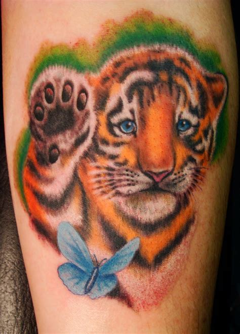 tiger cub tattoo designs pin baby tiger cubs tattoos on