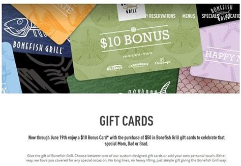 Where Can I Buy Bonefish Grill Gift Cards - mother s day freebies restaurant deals