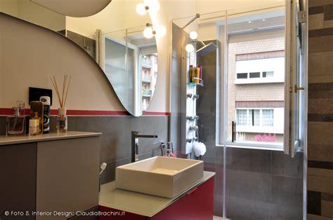 interior design bagno bagno grigio e fucsia glitter brachini torino