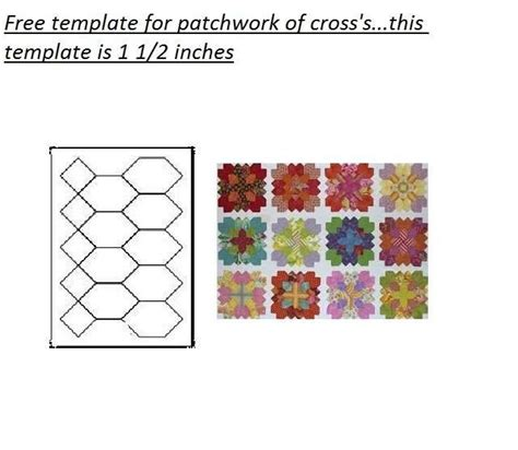 Templates For Patchwork - free patchwork of cross s template via